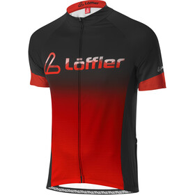 Löffler Messenger Mid Full-Zip Bike Jersey Men, black/sunset
